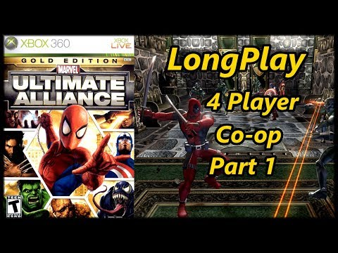 Marvel: Ultimate Alliance - Longplay 4 Player Co-op (Part 1 of 2) Walkthrough (No Commentary)