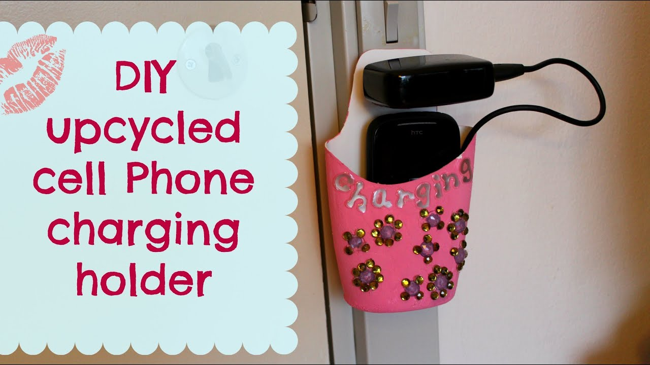 Diy upcycled cell phone charging holder youtube Diy cell phone charging station