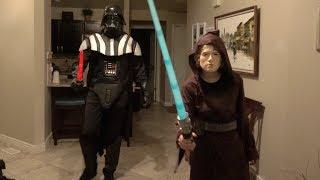Wearing Darth Vader Costume to Star Wars Movie!