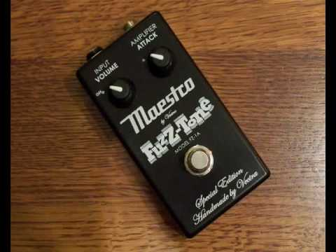 Maestro Fuzz-Tone FZ-1A fuzz pedal clone by Vectra Video