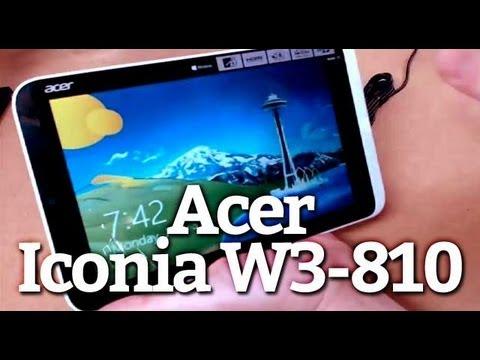 Prise en main : Acer Iconia W3-810