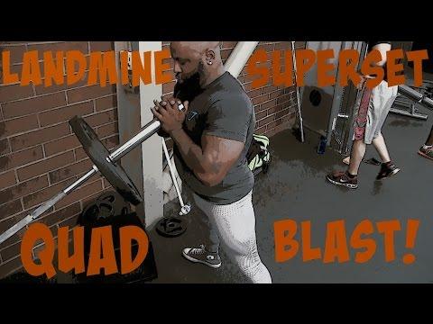 LANDMINE SQUATS FOR BIGGER QUADS!!