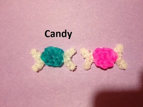 How To Make A Candy Charm On The Rainbow Loom - Original Design video