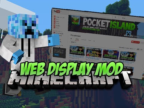 Minecraft Mod Spotlight - WEB DISPLAY MOD!