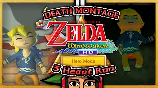 DEATH MONTAGE: The Legend of Zelda: The Wind Waker HD (Hero Mode)  3 Heart Run