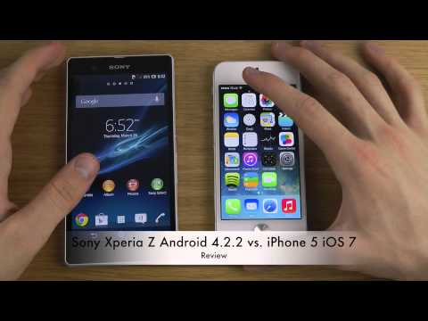 Sony Xperia Z Android 4.2.2 vs. iPhone 5 iOS 7 - Review