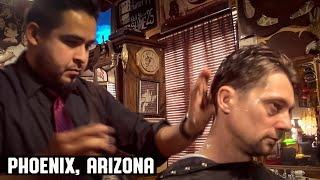 America's Most Polite Barber at  The House of Shave Barber Parlor, Phoenix Arizona.