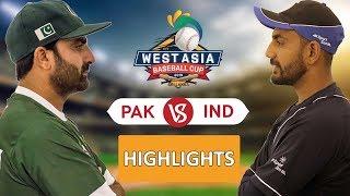WEST ASIA BASEBALL 2019 - Semi 02 IND vs PAK Highlights