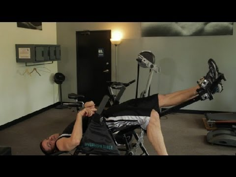 How to Stretch Your Hip Flexors With an Inversion Table : Around the Gym