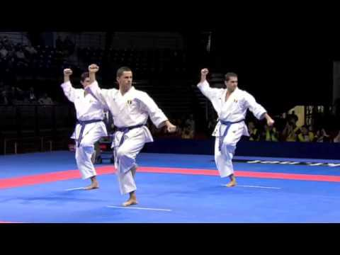 Karate Male Team Kata Final - Japan vs. Italy - WKF World Championships Belgrade 2010 (2/2) tab