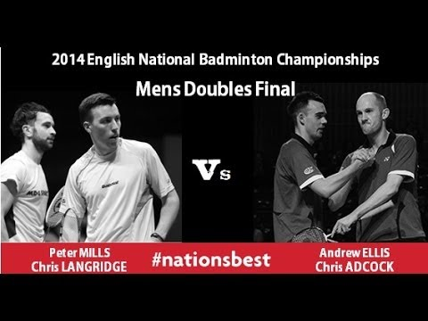 English National Badminton 2014 - Mens Doubles Final video