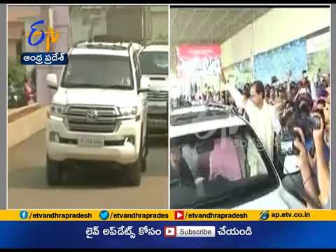 Telangana CM KCR Recieves Grand welcome in Vizag