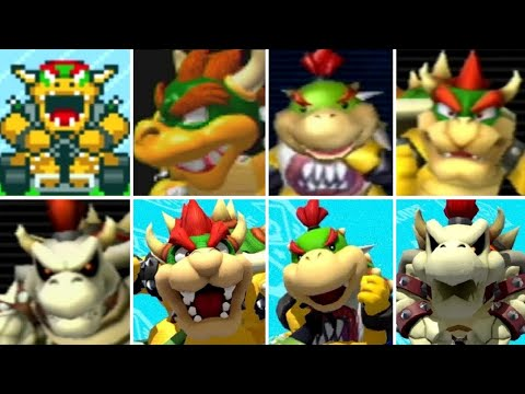 Evolution of Bowser Characters in Mario Kart Games (1992-2017)