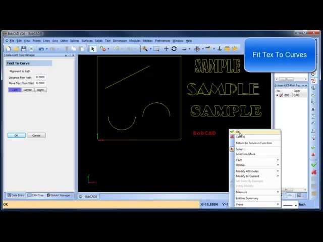 BobCAD CAM Fonts and DXF Library
