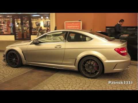 C63 AMG Black Series Coupe - extreme loud acceleration incl. C63 AMG Sedan - AMG Duo