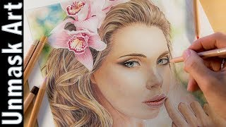 How to Color a Portrait with Colored Pencils