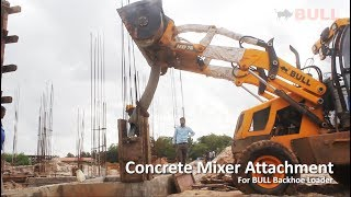 BULL Concrete mixer attachment for Backhoe Loader and Front End Loader