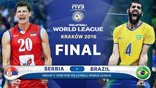 GOLD Collection Serbia v Brazil Final 2016 (Best Volleyball Actions) FIVB Volleyball World League