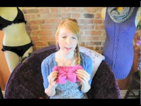 how to make a knitted bow headband 1/3.dv