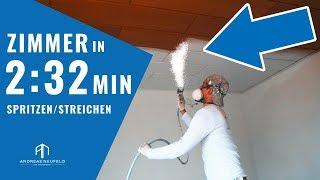 50 QM in 2:32 Minuten spritzen & streichen 2019 | Farbe SPRITZEN mit Airless-Gerät