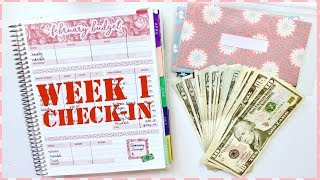 Week 1 Check In Using Cash Envelopes | Budget with Me - February 2019 Budget | Romina Vasquez