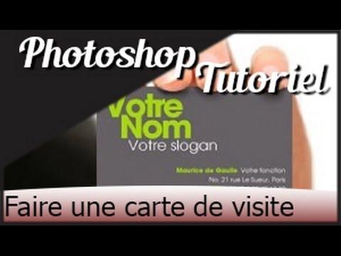 |Photoshop| Tuto Fr: Comment faire une carte de visite/Fiche publicitaire facilement