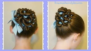 Ribbon Coiled Bun Hairstyle Tutorial