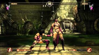Mortal Kombat 9 Mileena Fatality 1, 2, Stage and Babality (HD)