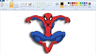 How to Draw Spiderman | MS Paint | Easy | Speed Paint