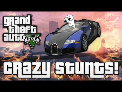 GTA V: CRAZY JUMPS & STUNTS! (Grand Theft Auto 5 Funny Moments)