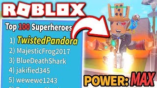 I AM THE GREATEST HERO in SUPER POWER TRAINING SIMULATOR!! *#1 on LEADERBOARD!* (Roblox)