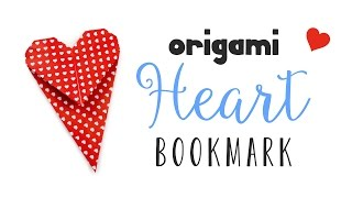Origami Heart Bookmark Instructions ♥ DIY ♥︎ Valentine