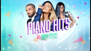 Piano Hits .? ? Pop Songs July 2018 : Over 1 hour of Billboard hits - music for classroom ,study