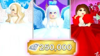 BUYING THE TOP 3 MOST EXPENSIVE OUTFITS IN ROYALE HIGH! 250,000 DIAMOND SPENDING SPREE!