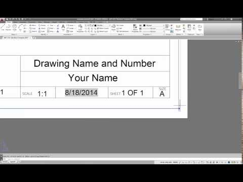 AutoCAD 2015 How to Create Titleblock Templates for Layouts