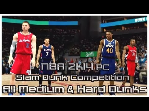 NBA 2k14 - Slam Dunk Competition - ALL Medium & Hard Dunks - PC Gameplay