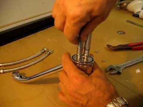 Instalar grifo monomando en fregadero de encimera de - Grifos de cocinas ...