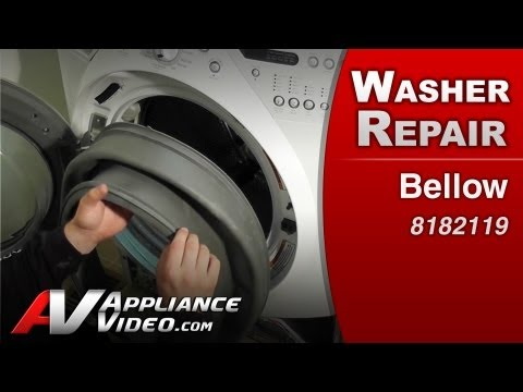 Washer Front load Bellow Diagnostic & Repair. leaking washer Whirlpool. Maytag. Sears. # 8182119