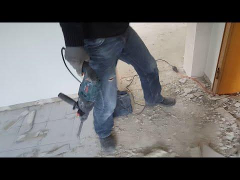 Fußboden Fliesen Renovieren ~ Wc renovieren teil bodenfliesen entfernen und vorbereiten zum fliesen