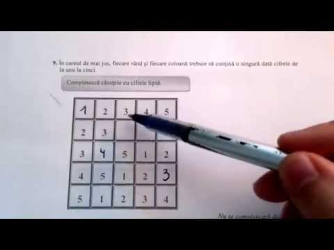 Evaluare Nationala la Matematica, clasa a IV-a.  Model de evaluare rezolvat.