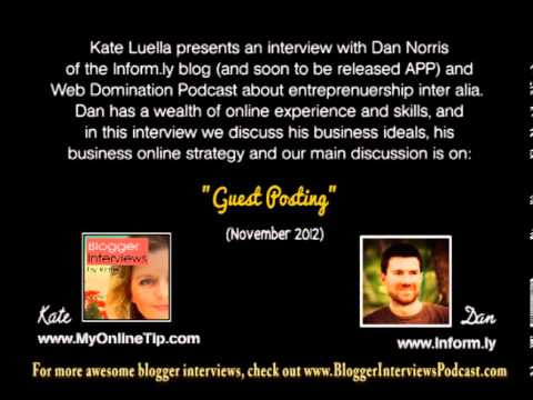 Dan Norris Blogger Interview on Guest Posting and his Inform.ly APP
