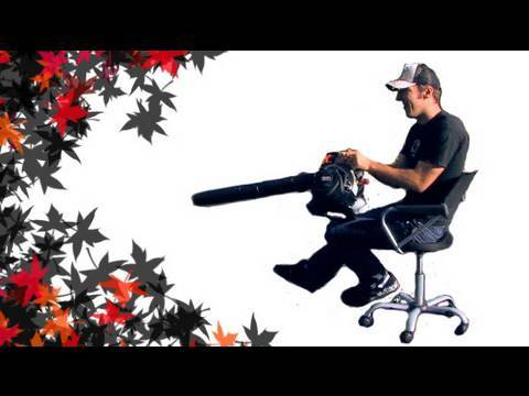 Funny Leaf Blower Tricks