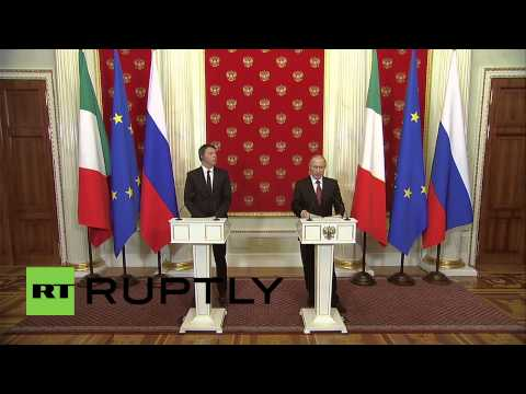 Russia: Putin and Renzi agree that Minsk is route to Ukraine peace