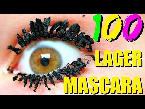 LÄGGER 100 LAGER MASCARA | Vlogg
