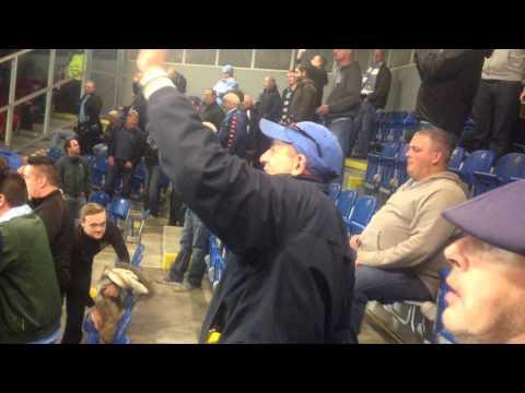 City fans in Plzen singing