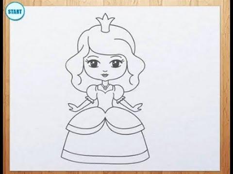 Рисуем принцесс для детей