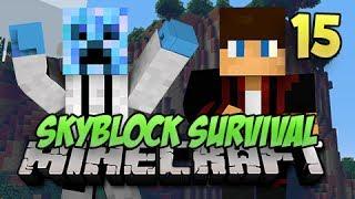 Minecraft Skyblock Survival - #15 - ENCHANTMENT TABLE!