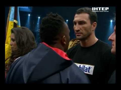 Chisora spits in the face Klitschko  / Чисора плюет в лицо Кличко