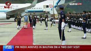 PM Modi accorded Guard of Honour at Paro in Bhutan