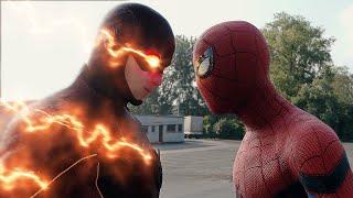 SPIDER-MAN PS4 FIGHTS THE FLASH vs GRODD vs SPIDER-MAN MILES MORALES vs SUB-ZERO FIGHT SCENE